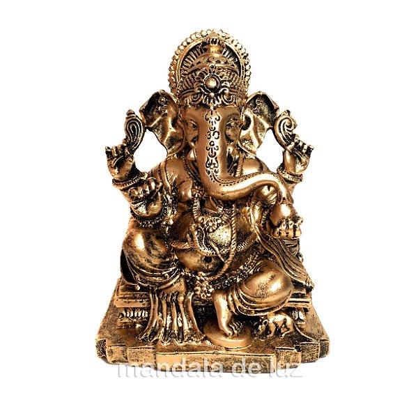 Estátua de Ganesha Dourado 13cm