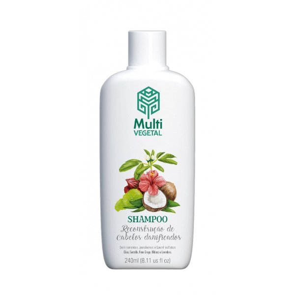 Shampoo Reconstrução Cabelos Danificados - 240mL