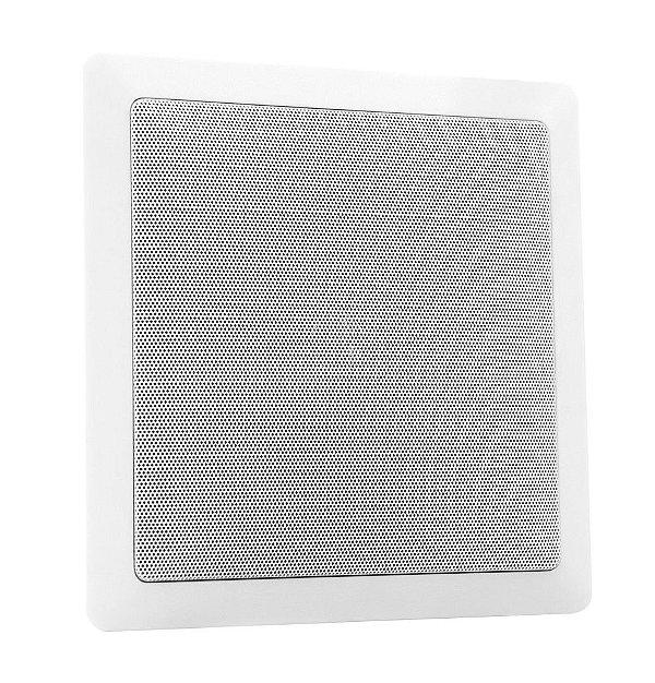 Arandela Frahm 6'' Quadrada Telar Metálico 30W Rms Branca