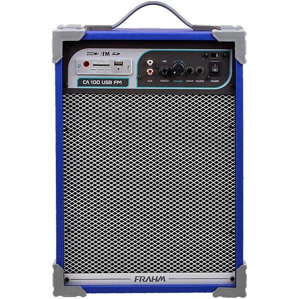 Caixa de Som Amplificada Multiuso Frahm Ca 100 Azul 50W Rms