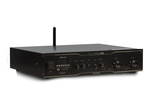 Amplificador Frahm Slim 5000 APP Multi-channel USB SD FM BT