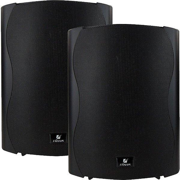 """Kit Caixa Acústica Frahm Ps Plus Bt 6"""" Bluetooth Preta"""