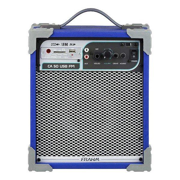 Caixa de Som Amplificada Multiuso Frahm Ca 50 Azul 40W Rms