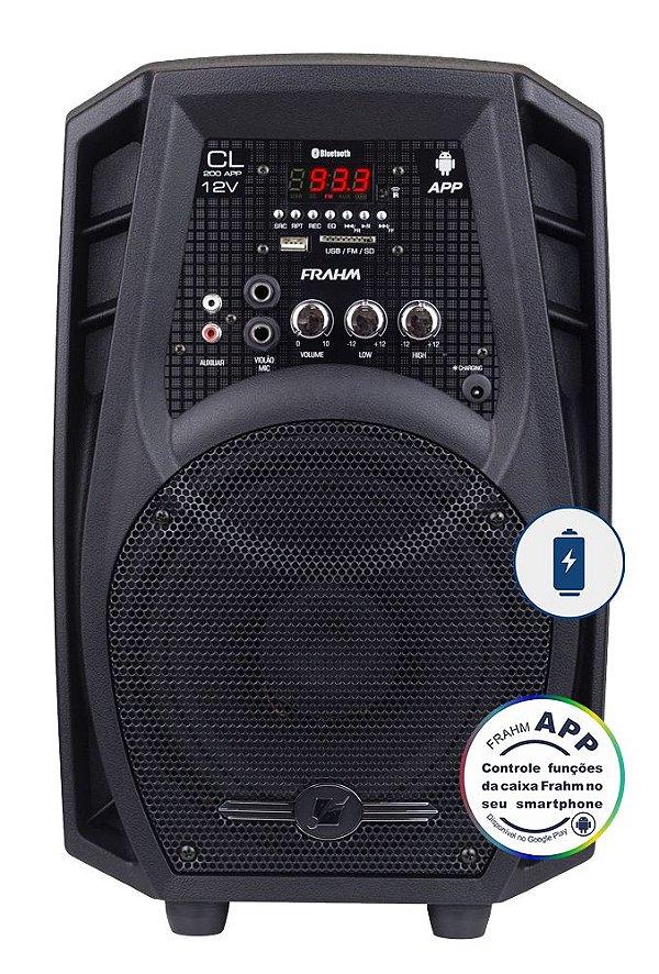 Caixa De Som Amplificada Multiuso Frahm Cl 200 App 12v - Bluetooth USB SD FM - 60W Rms