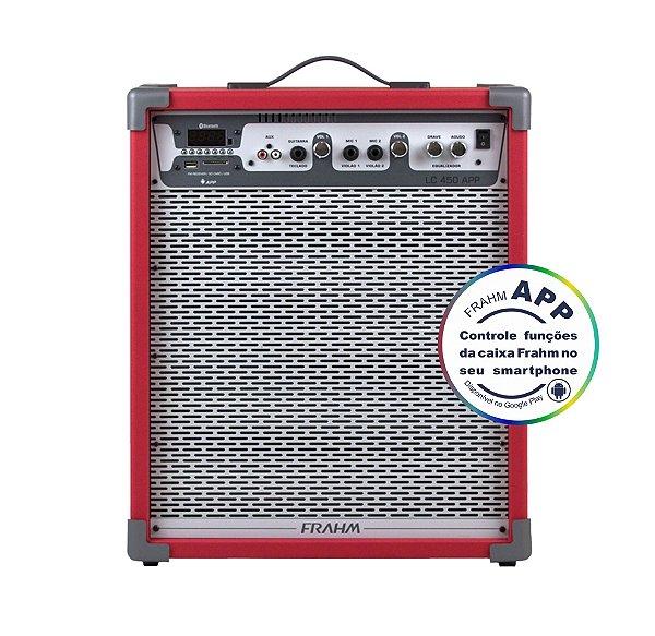 Caixa de Som Amplificada Multiuso Frahm Lc 450 APP Vermelha