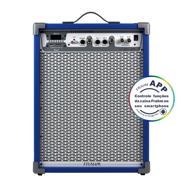 Caixa de Som Amplificada Multiuso Frahm Lc 650 APP Azul