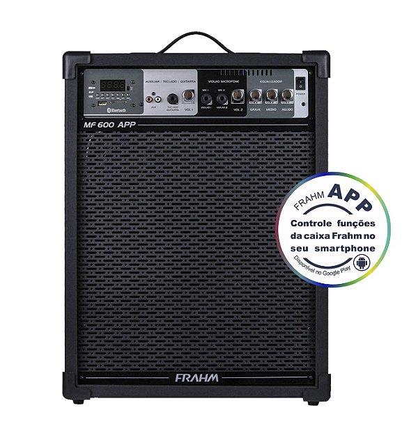 Caixa de Som Amplificada Multiuso Frahm MF 600 APP