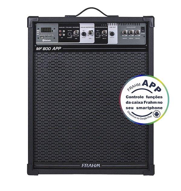 Caixa de Som Amplificada Multiuso Frahm MF 800 APP