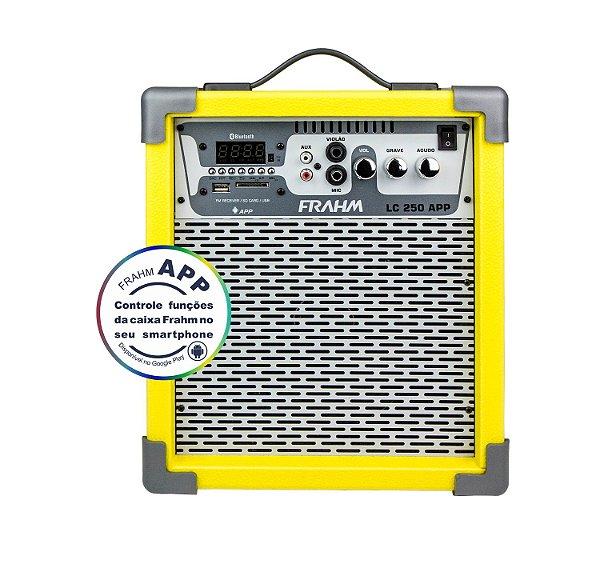 Caixa de Som Amplificada Multiuso Frahm LC 250 APP Amarela