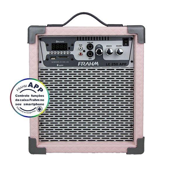 Caixa de Som Amplificada Multiuso Frahm LC 250 APP Rosa