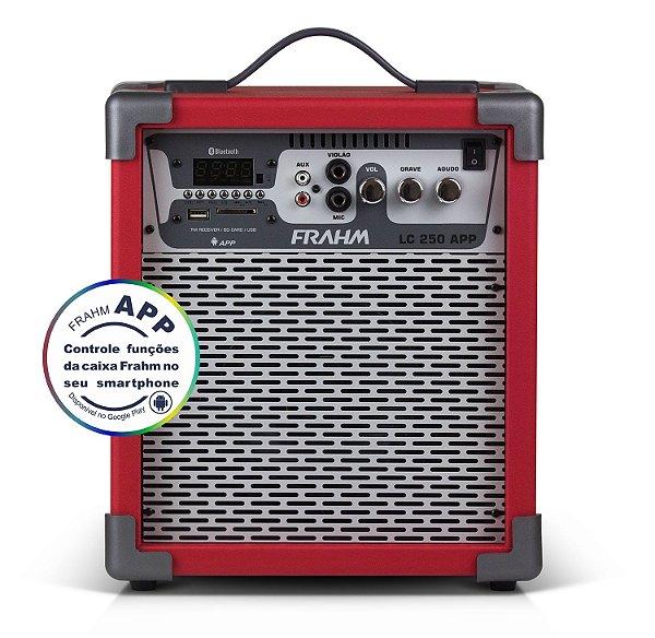 Caixa de Som Amplificada Multiuso Frahm LC 250 APP Vermelha