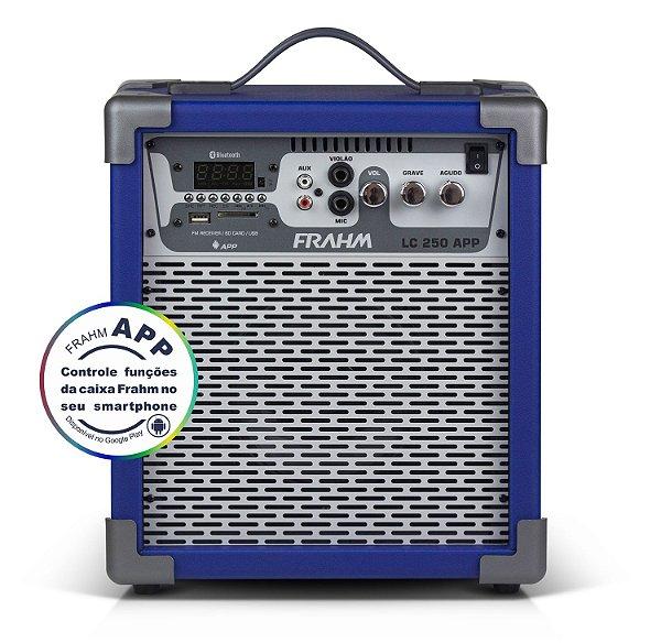 Caixa de Som Amplificada Multiuso Frahm LC 250 APP Azul - Bluetooth USB SD FM - 60W Rms