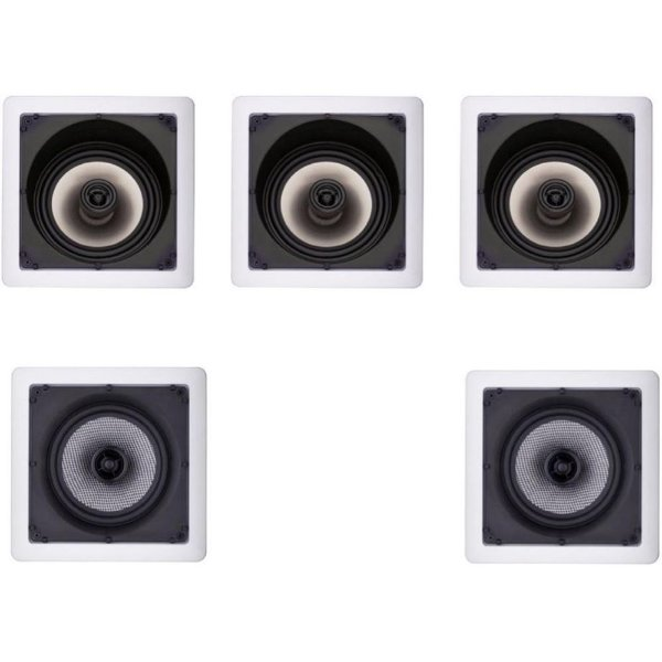 Kit Home Theater 5.0 Loud - 3 Arandelas SL6 100W + 2 SQ6 100W