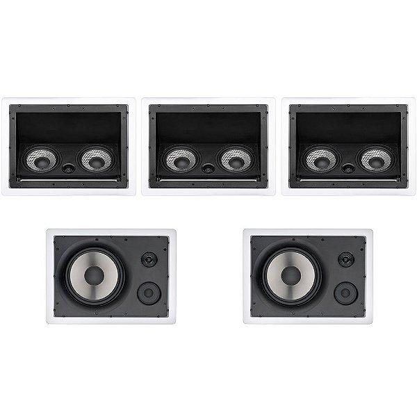 Kit Home Theater 5.0 Loud - 3 Arandelas LHT 100W + 2 LHT TW 80W