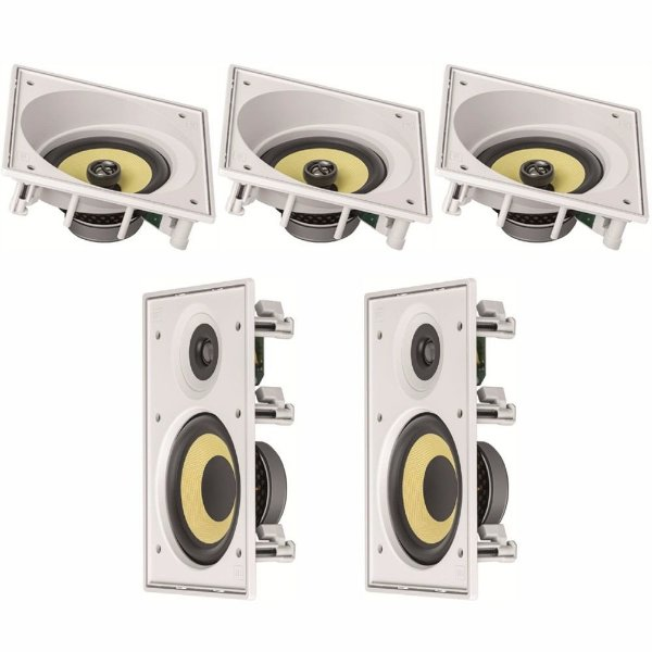 Kit Home Theater 5.0 JBL - 3 Arandelas CI6SA + 2 Arandelas CI6R