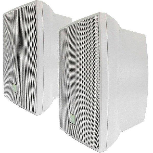 Caixa de Som Acústica JBL C321B Passiva 60W Rms Branca Par