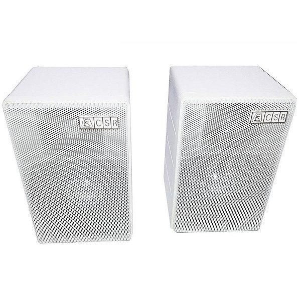 Caixa de Som Acústica CSR 75 M Passiva 80W Rms Branca Par