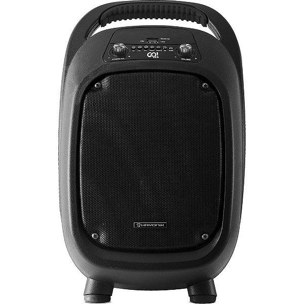 Caixa de Som Multiuso Portátil Hayonik GO!100 Bluetooth/MicroSD/USB/FM Preta 100W