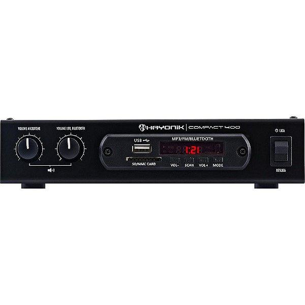 Amplificador Hayonik Compact 400 Bluetooth USB 40W