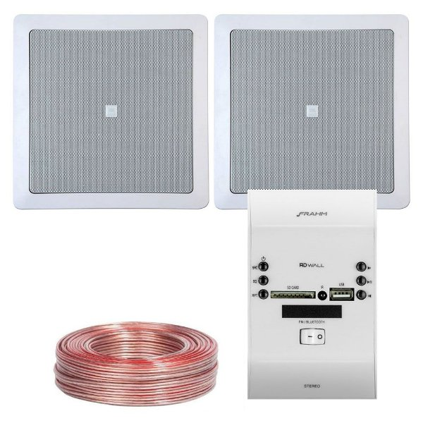 Kit RD Wall Frahm + 2 Arandelas 6co1q JBL + Brinde