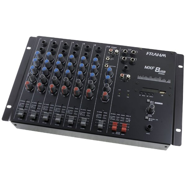 Mesa de Som Mixer Frahm MXF 8 USB - 8 Canais
