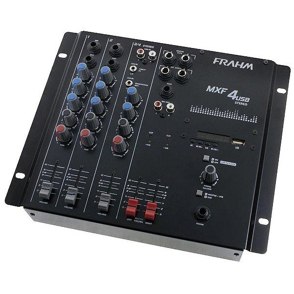 Mesa de Som Mixer Frahm MXF 4 USB - 4 Canais