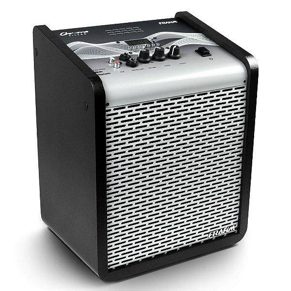 Caixa de Som Amplificada Multiuso Frahm Chroma CR400 APP Bluetooth Silver