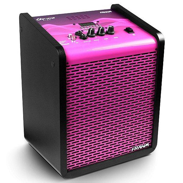 Caixa de Som Amplificada Multiuso Frahm Chroma CR400 APP Bluetooth Pink