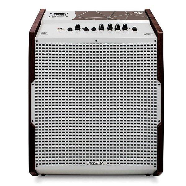 Caixa de Som Amplificada Multiuso Frahm Enjoy Expert APP Bluetooth Branca