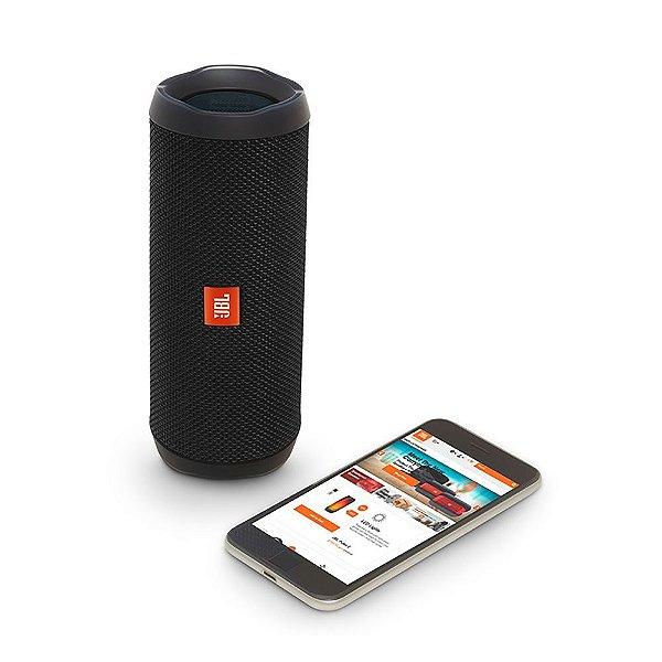 Caixa de Som Portátil JBL Flip 4 Bluetooth Connect APP Preta