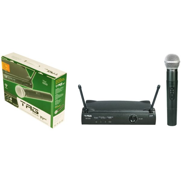 Microfone Sem Fio Tag Sound Tagima Uhf TM559 S/Case