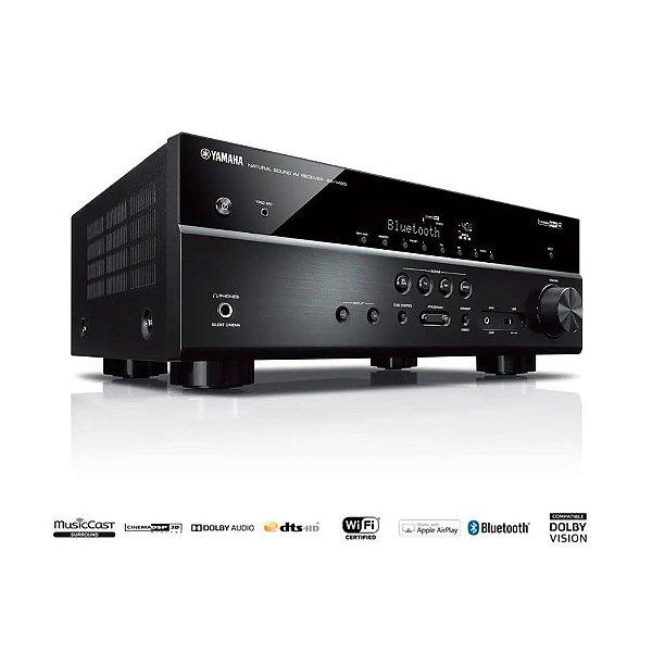 Receiver Yamaha RX-V485 BL 5.1ch Bluetooth Wi-Fi AirPlay 4K UHD HDR10 Zona B - Bivolt