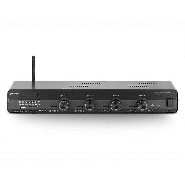 Amplificador Frahm Slim 4500 APP Optical USB SD FM BT