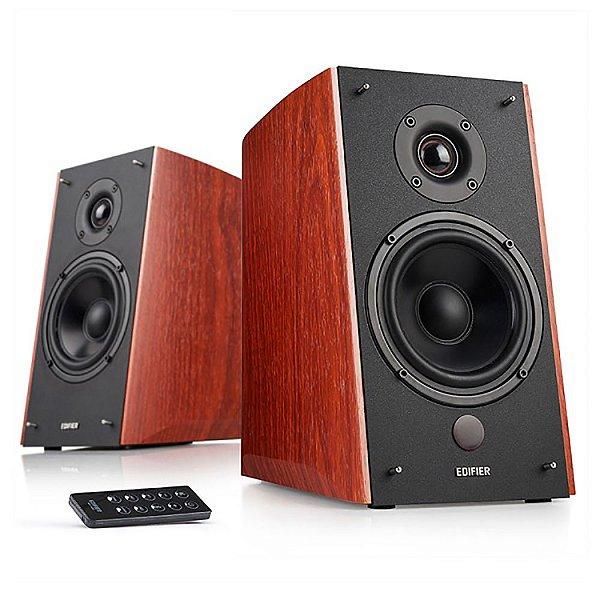 Caixa de Som Edifier R2000DB Monitor de Áudio Bluetooth 120W Rms Bivolt Par - Madeira