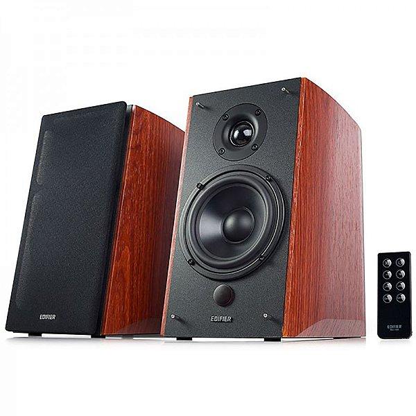 Caixa de Som Edifier R1900TV Monitor de Áudio 2.0 120W Rms Bivolt Par - Madeira