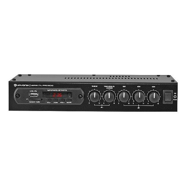 Amplificador Hayonik Versátil PRO-500 Bluetooth USB FM 50W