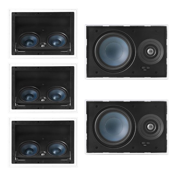 Kit Home Theater 5.0 AAT - 2 Arandelas LR-E100 + 3 Arandelas LCR-A100