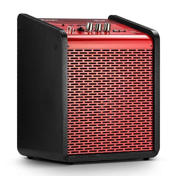 Caixa de Som Amplificada Multiuso Frahm Chroma Battery BT USB FM Vermelha