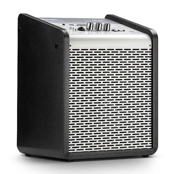 Caixa de Som Amplificada Multiuso Frahm Chroma Battery BT USB FM Silver
