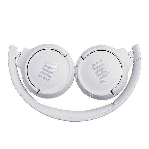 Fone De Ouvido JBL Tune 500 BT Sem Fio Bluetooth Pure Bass 16h Bateria Branco