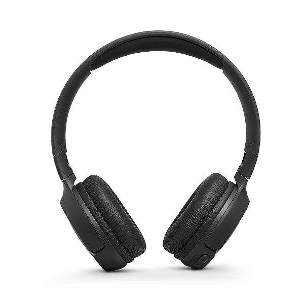Fone De Ouvido JBL Tune 500 BT Sem Fio Bluetooth Pure Bass 16h Bateria Preto
