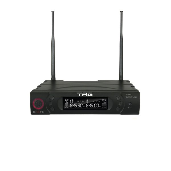 Receiver digital TagSound TG-88RC c/ freq variável UHF para microfone da linha TG-88