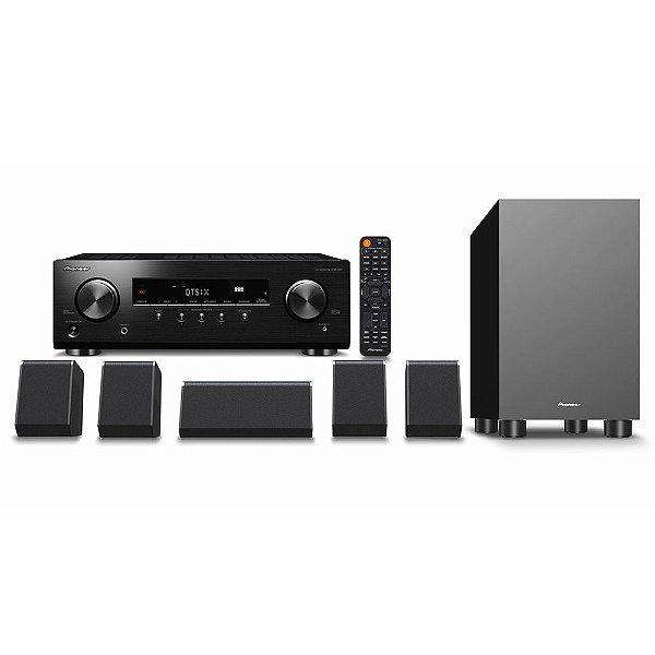 Kit Home Theater 5.1 Pioneer HTP-076 DolbyAtmos DTS:X HDR10 HLG 4K Bluetooth ZonaB 110V