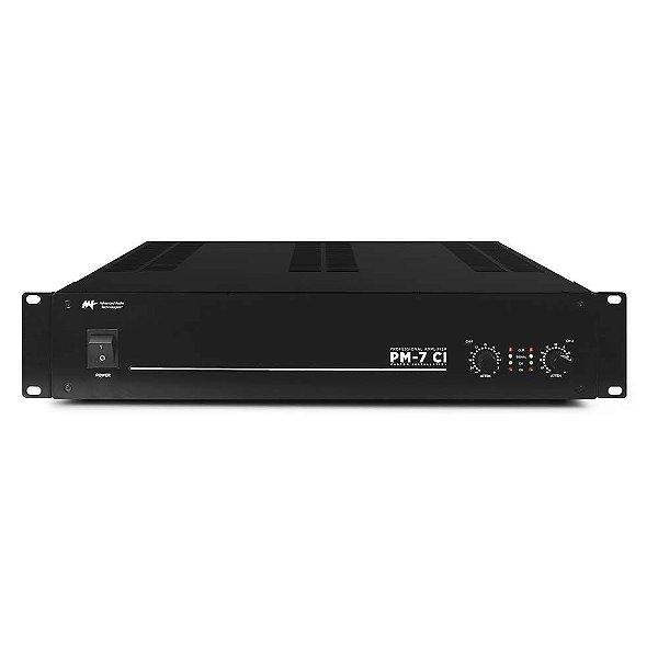 Amplificador AAT PM-7 CI - 2 Canais 8/4 ohms 70V/100V Som Ambiente