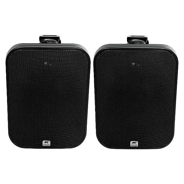 Caixa Acústica AAT OS120-IP56 À Prova D' Água Outdoor Preta Par