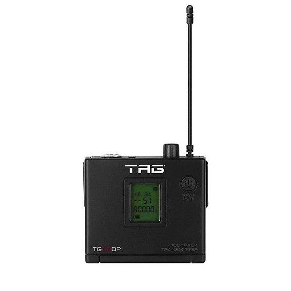 Transmissor Bodypack TagSound TG-88BP freq variável p/microfone sem fio UHF
