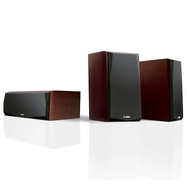 Kit 3.0 Caixas Acústicas Yamaha NS-P51 - 1 Central + 2 Surrounds - Walnut
