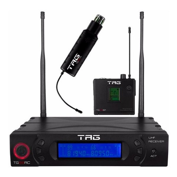 Kit TagSound Transmissor Bodypack TG-88BP + Receiver Digital TG-88RC  + Transmissor sem fio TG-88TR