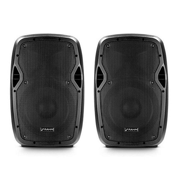 Kit Caixa de Som Acústica Frahm Gr 10 Ativa e Passiva