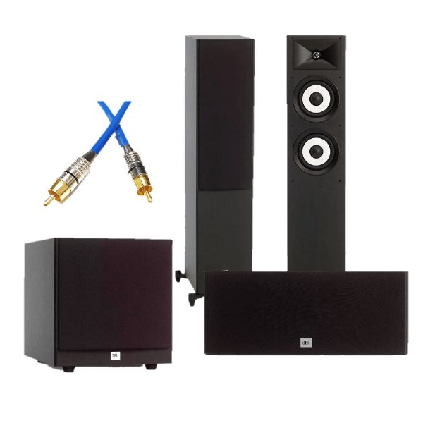 Kit Home Theater 3.1 JBL - 2 Stage A180 Torres + 1 Stage A125C Central + 1 Subwoofer Stage A100P + Brinde